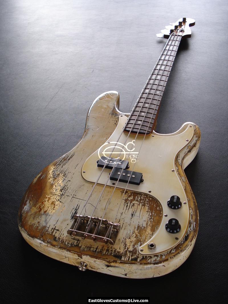 fender precision bass relic vintage white gold edition sold east gloves customs guitars. Black Bedroom Furniture Sets. Home Design Ideas