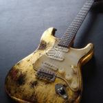 27ceac4446b Fender Stratocaster American Custom Shop Texas Special Pickups Relic Gold  Edition (SOLD)