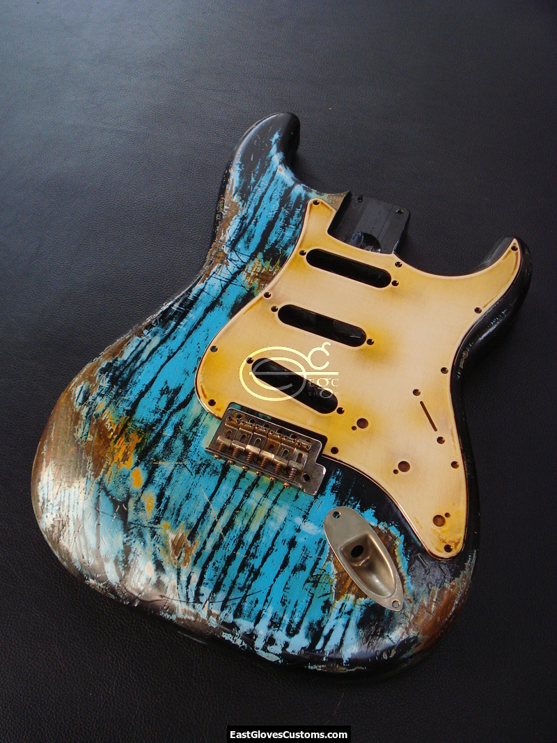 Fender Stratocaster Heavy Relic Blue Zebra Allparts Replacement Body Made In USA SOLD