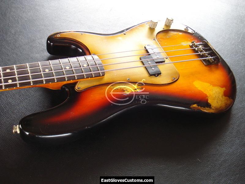 fender precision bass relic sunburst sold east gloves customs guitars. Black Bedroom Furniture Sets. Home Design Ideas