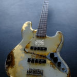 dfab53a8858 Fender Jazz Bass Vintage White Gold Edition Heavy Aged Relic by East Gloves  Customs (RARE)
