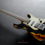 62eaa094739 Fender Deluxe Comtemporary Stratocaster Floyd Rose System III Tremolo Black  MIJ Relic Aged (RARE)  SOLD